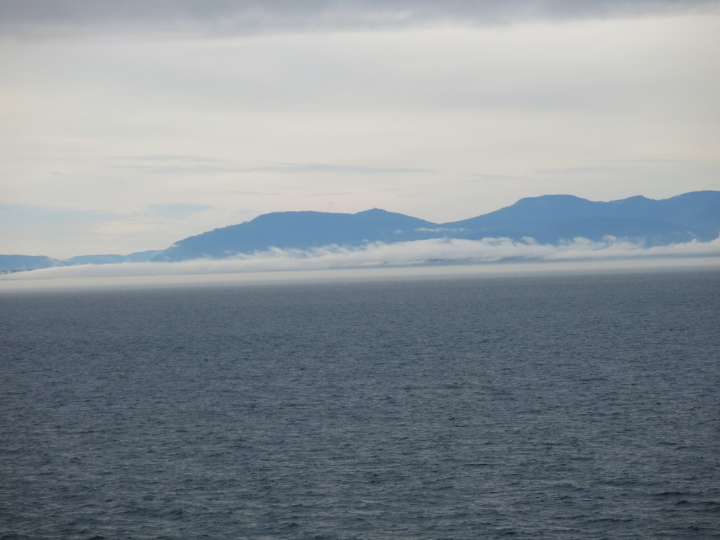 low cloud off Vancouver Island