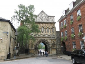 gate to cathedral precinct