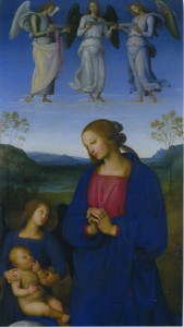 Pietro Perugino Virgin and Child with an Angel