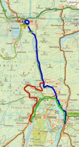 Day 33 route map