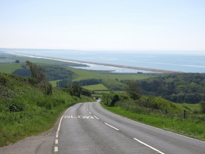 Chesil Beach from the west