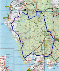 Lake District map route